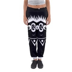 Black and white voodoo man Women s Jogger Sweatpants