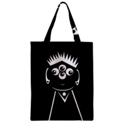 Black and white voodoo man Zipper Classic Tote Bag