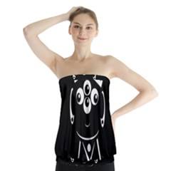 Black and white voodoo man Strapless Top