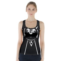Black and white voodoo man Racer Back Sports Top