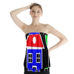 Kids drawing Strapless Top