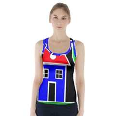 Kids Drawing Racer Back Sports Top