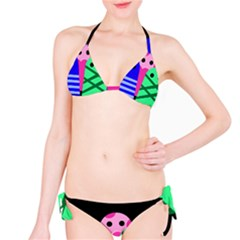 Three monsters Bikini Set
