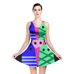 Three monsters Reversible Skater Dress
