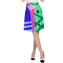 Three monsters A-Line Skirt