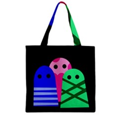 Three monsters Zipper Grocery Tote Bag