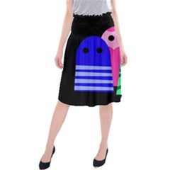 Three Monsters Midi Beach Skirt