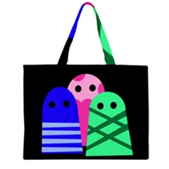 Three monsters Large Tote Bag