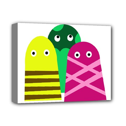 Three mosters Deluxe Canvas 14  x 11