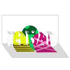 Three mosters #1 DAD 3D Greeting Card (8x4)