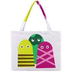 Three mosters Mini Tote Bag