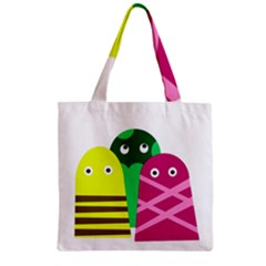 Three mosters Zipper Grocery Tote Bag
