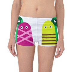 Three mosters Reversible Boyleg Bikini Bottoms