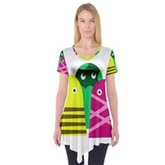 Three mosters Short Sleeve Tunic