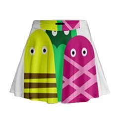 Three Mosters Mini Flare Skirt