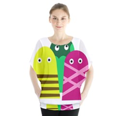 Three mosters Blouse
