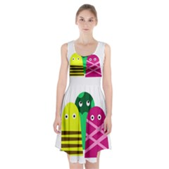 Three Mosters Racerback Midi Dress