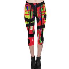 Colorful abstraction Capri Leggings