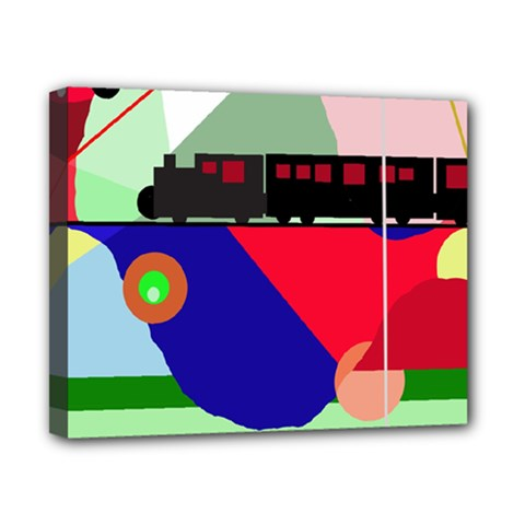 Abstract train Canvas 10  x 8
