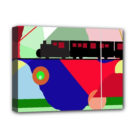 Abstract train Deluxe Canvas 16  x 12