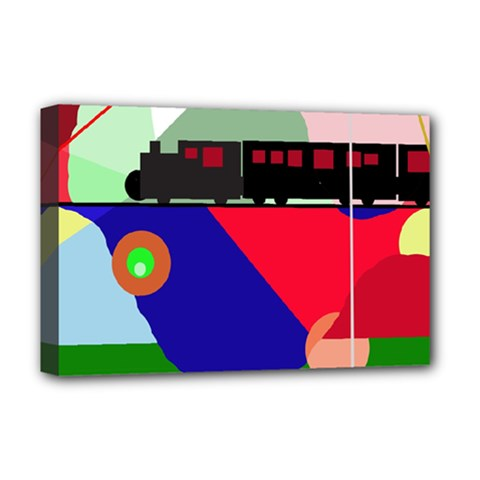 Abstract train Deluxe Canvas 18  x 12