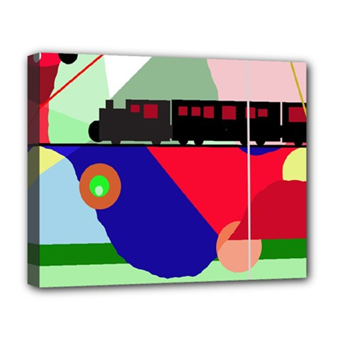 Abstract train Deluxe Canvas 20  x 16