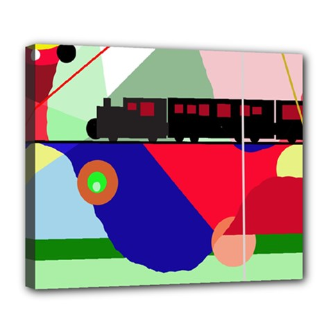 Abstract train Deluxe Canvas 24  x 20