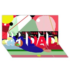 Abstract train #1 DAD 3D Greeting Card (8x4)