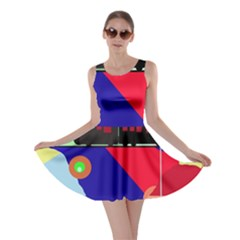 Abstract train Skater Dress