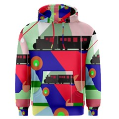 Abstract train Men s Pullover Hoodie