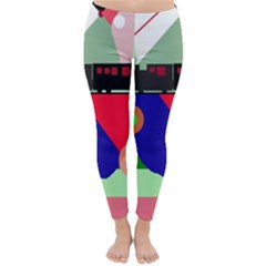 Abstract train Winter Leggings