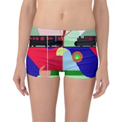 Abstract train Boyleg Bikini Bottoms