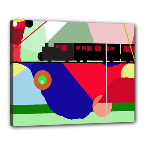 Abstract train Canvas 20  x 16
