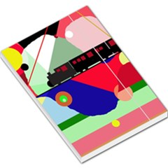 Abstract Train Large Memo Pads