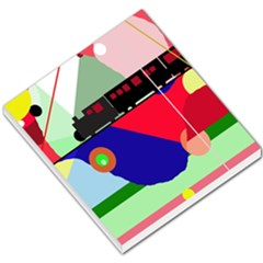 Abstract train Small Memo Pads