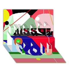 Abstract Train Miss You 3d Greeting Card (7x5)