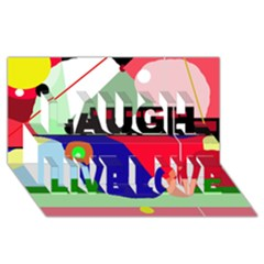 Abstract train Laugh Live Love 3D Greeting Card (8x4)