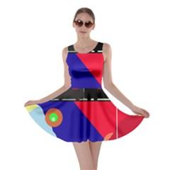 Abstract train Skater Dress