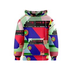 Abstract train Kids  Pullover Hoodie