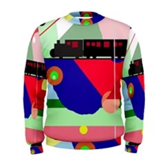Abstract train Men s Sweatshirt