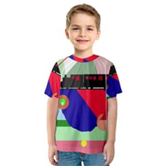 Abstract train Kid s Sport Mesh Tee