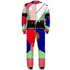Abstract train OnePiece Jumpsuit (Men)