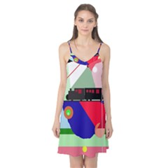 Abstract train Camis Nightgown