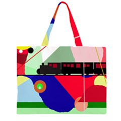 Abstract train Large Tote Bag