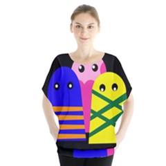 Three Monsters Blouse