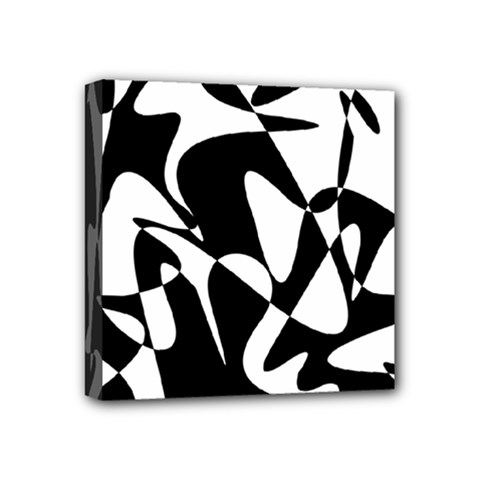 Black and white elegant pattern Mini Canvas 4  x 4