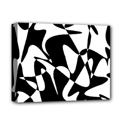 Black and white elegant pattern Deluxe Canvas 14  x 11