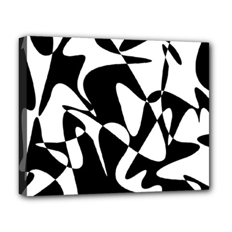 Black and white elegant pattern Deluxe Canvas 20  x 16