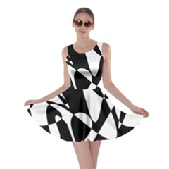 Black and white elegant pattern Skater Dress