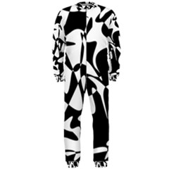 Black and white elegant pattern OnePiece Jumpsuit (Men)